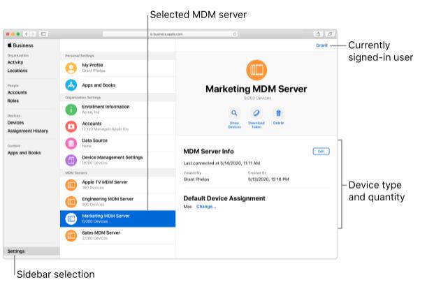 Zero Touch marketing MDM server